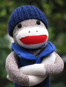Outdoor Sock Monkey