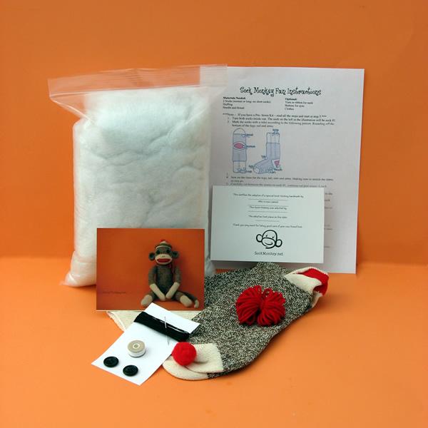 Sock monkey kits only 13 sock monkey diy sock monkey kit solutioingenieria Gallery