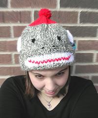 Sock Monkey Hat Crochet Pattern by Shelleden on Etsy
